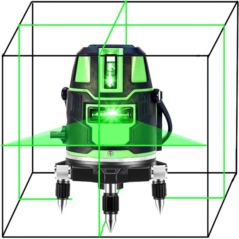 Baulaser 5 Linien Laser Level Kreuzlinienlaser Grün Rotationslaser Messwerkzeug
