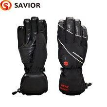 Спаситель с-01 зима с подогревом лыжные перчатки электрическое отопление 7.4 V литиевая батарея мягкий вкладыш выбора сорта материала кожи