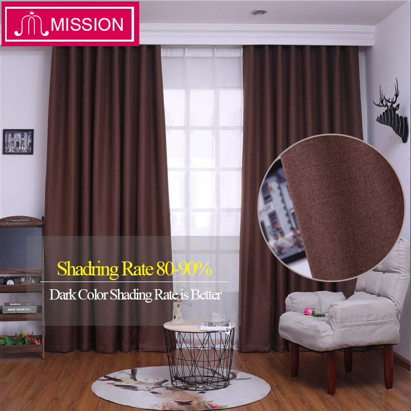 MISSION Solid Color Window Treatment Thermal Insulated Living Room Darkening Blackout Curtain/Drapes For Bedroom Custom Made