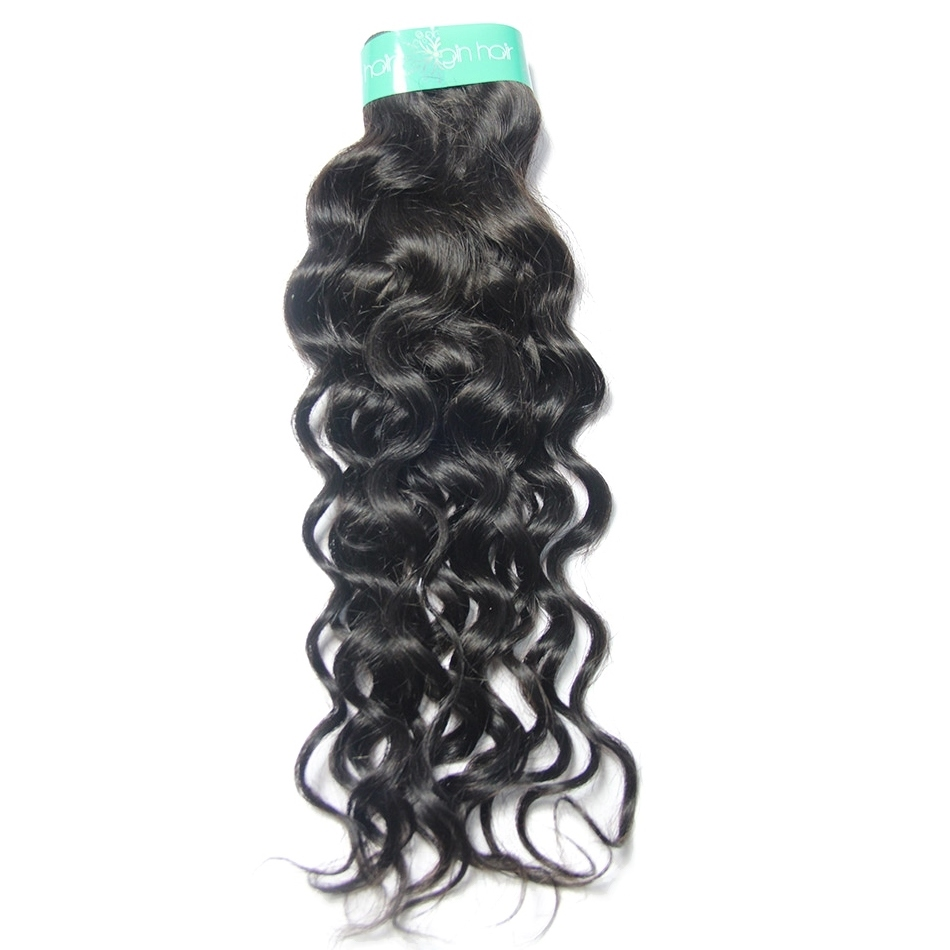 Italian Curly Indian Virgin Hair Style Unprocessed Human Hair Weave Water Wave Machine Double Wefts 100g Bundle Hair Extensions