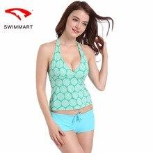 SWIMMARTswimwear women spa split two-piece boxer swimsuit high-grade nylon swimming suit swimming suit for women swim suit bikin