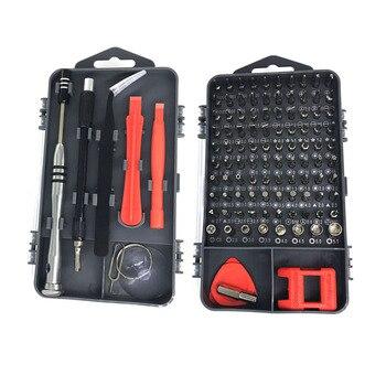 Zestaw wkrętaków 112 w 1 zestaw narzędzi do naprawy telefonu komórkowego PC śrubokręt magnetyczny Torx urządzenie elektroniczne narzędzia ręczne