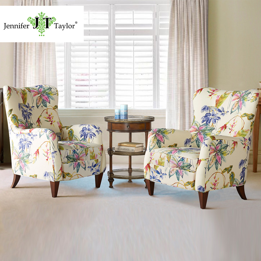 Jennifer Taylor Home, Arm Chair, Multicolored, Cotton Blend, Hand Tufted, Wooden Legs 5312-804 jennifer taylor home sofa bed hand tufted hand painted and hand rub finished wooden legs 65000 584 859 865
