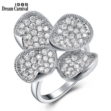 Anillos Wedding-Rings Clover Jewelry Ring-Anniversary Four-Petals Dreamcarnival 1989