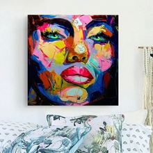 Knife Painting Abstract Face Impasto Figure Canvas  Francoise Nielly Wall Art Decoration For Home Wholesale