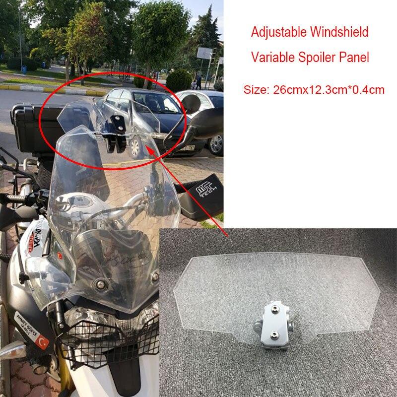 Transparent Adjustable Windshield Windscreen Variable