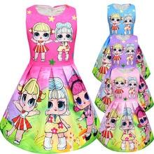 hot deal buy lol dolls baby dresses 2018 summer cute elegant dress kids party christmas costumes children clothes princess girls dress