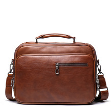 лучшая цена Men crazy horse genuine leather camera bag for Nikon for Canon multi pocket big capacity camera case Brown cowhide travel bag