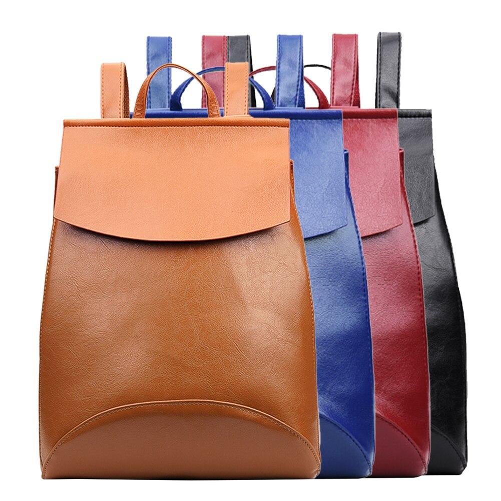 c57ff22ef3de New PU Leather Backpack Shoulder Bag Backpack Women School Bags for Teenage  Girls Back Pack Women Bolsa Mochila feminina