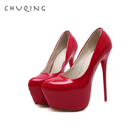 CHUQING 2019 Spring and Autumn New Nightclub Shallow Mouth Single Shoes 16CM High Heel Sexy Stiletto Women's Shoes