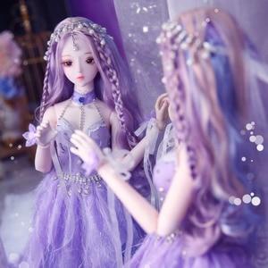 Image 2 - Dbs Droom Fairy 1/3 Bjd 60Cm Pop Joint Body Sd Speelgoed Inclusief Haar Jurk Schoenen Hoofdtooi Meisje Gift