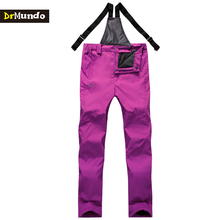 DrMundo Waterproof Women Sling Snowboarding pants ski thicken outdoor fleece snowboard trousers Female skiing snow pants Brand
