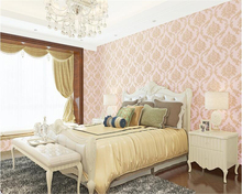 цена на beibehang fine fashion nonwoven wallpaper luxury European style papel de parede 3d wallpaper bedroom living room TV background