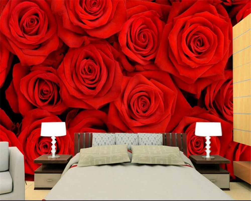 Red Wallpaper Designs For Living Room Compare Prices On Red Roses Wallpapers Online Shopping Buy Low