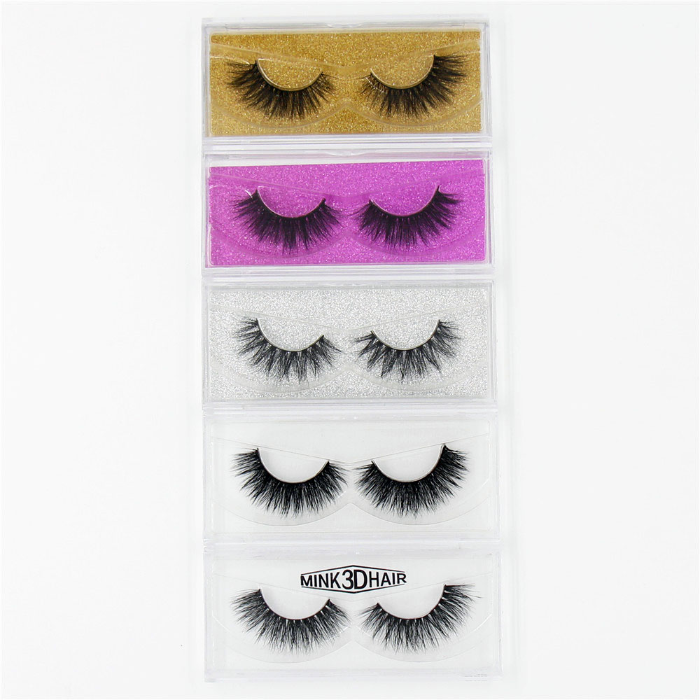 3D Mink eyelash Messy Cross Thick Natural Fake Eye Lashes Professional Makeup Bigeye Eye Lashes Handmade 1pair Glitter Packaging