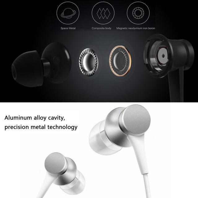 Original Xiaomi Mi Piston Earphone Newest Xiaomi Fresh Edition Basic Version Earphone  In Stock with Mic for Samsung for Xiaomi