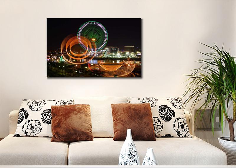 luz de noche desenfoque artes lienzo cuadros para la decoracin de oficinas moderno pared fotos y