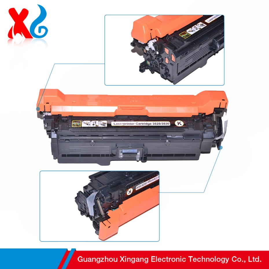 Compatible Toner Cartridge Replacement For Hp Color Laserjet Cp3525 Tinta 126a Cmyk Cp3525dn Cp3525n Cp3525x Cm 3530 Ce250a Ce251a Ce252a Ce253a In Cartridges From