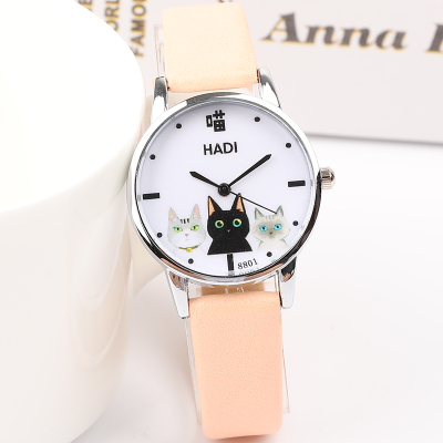 Japanese small fresh girl child wild watch female Korean version of the simple Harajuku cute middle school students soft gi ins cherry powder test watch women junior high school students korean version of the simple dream trend retro cute soft sister