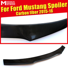 For Ford Mustang Coupe B-Style Rear Spoiler High-quality Carbon Fiber Rear Frunk Spoiler Wing Lip car styling Auto Part 2015-16 gt style carbon fiber rear wing carbon fiber car rear wing trunk lip spoiler for ford mustang 2015 up gt 350