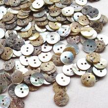 Botões de costura, 100 pçs 11mm cor japonesa mãe de pérola concha redonda 2 buracos botão de costura acessórios