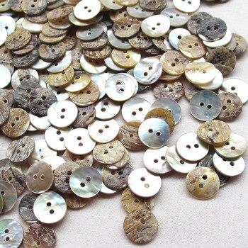 100 шт 11 мм натуральный корпус Швейные Кнопки цвет Япония перламутровая Швабра круглый корпус 2 отверстия пуговицы, аксессуары для шитья