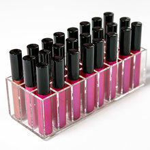 Acrylic Lip Gloss Holder Lipstick storage box Display Stand Makeup Storage Box Cosmetic Makeup Organizer cosmetic organizer(China)