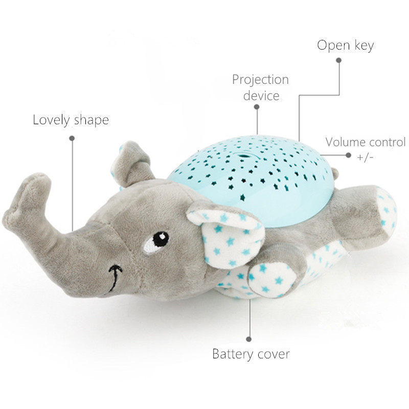 Winco Baby Sleep Plush Toys Led Lighting Stuffed Animal Led Night Lamp With Music Star Projector Light Baby Toys For Children #4