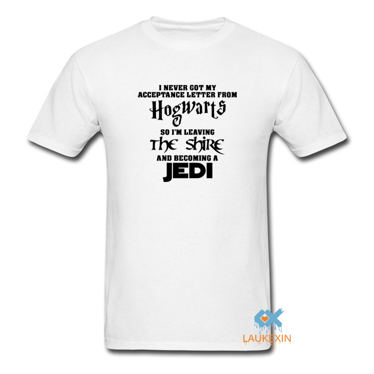 i never got my acceptance letter from hogwarts starwars tshirt with harry potter funny slogan