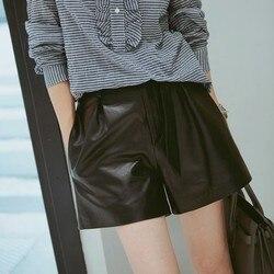 2019 Neue Mode Echte Schafe Leder Shorts G8