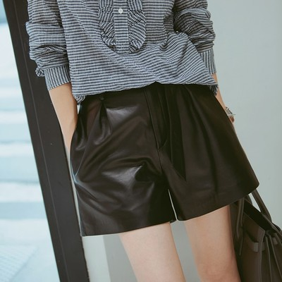 2019 New Fashion Genuine Sheep Leather   Shorts   G8