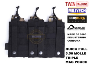 Image 2 - MILITECH TWINFALCONS TW Delustered Hypalon לשלושה M855 פתוח למעלה Mag תיק MOLLE מגזין פאוץ צבאי לחימה 5.56x45 אחסון