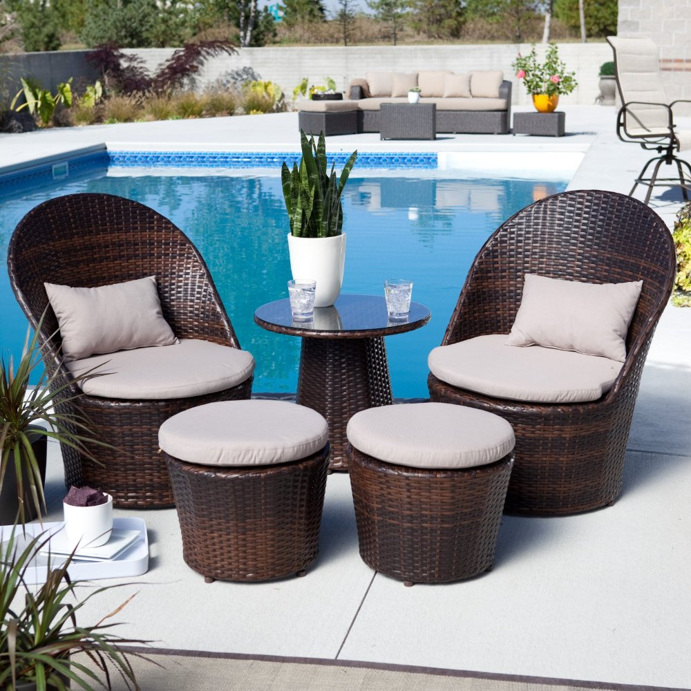 balcony furniture set  home design styles - layton allweather wicker balcony outdoor chat set(china (mainland))