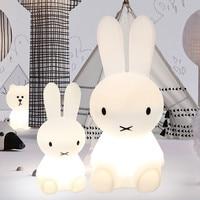 Baby Bedroom Feeding Lamp Rabbit 30/50/80cm Big Night Light Anti fall Christmas Gift Bedside Decoration Kids Lovely Desk Lights