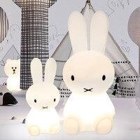 Baby Bedroom Feeding Lamp Rabbit 30 50 80cm Big Night Light Anti Fall Christmas Gift Bedside