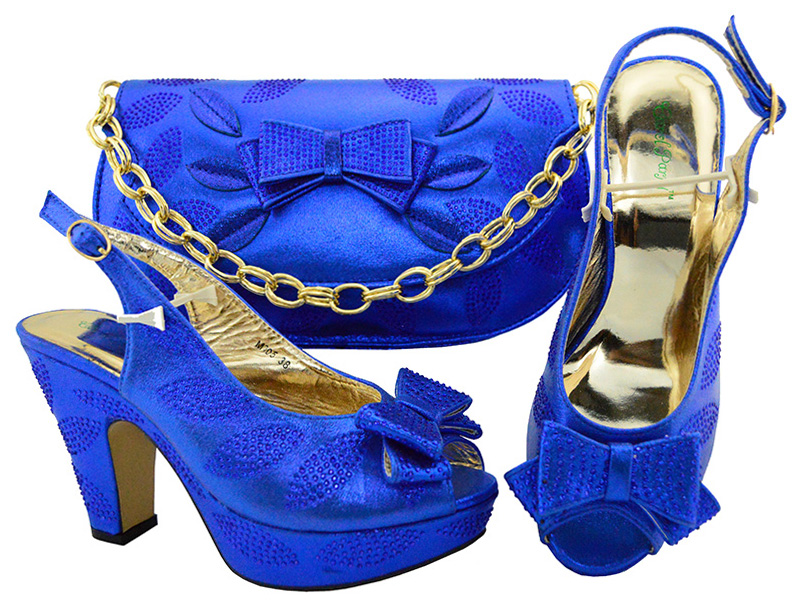 High Quality Fashion Italian Design Shoes and Bag to Match Shoes and Purse Set Nigerian African Party Shoes and bag Fuchsia M005