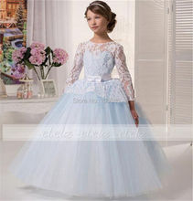 2016 lace flower girl Appliques DRESS-OCCASION-PARTY-BRIDESMAID-WEDDING-FORMAL-WEAR!! Cute and Lovely ! all sizes
