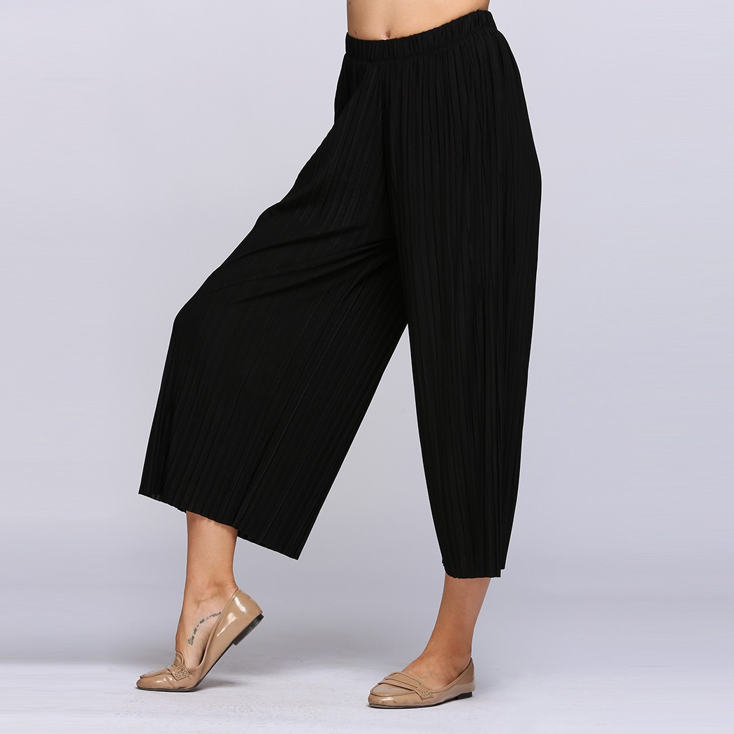 Womens Wide Leg Trouser Slacks Promotion-Shop for Promotional ...