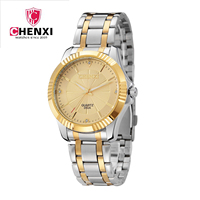 2015 New Arrival Watches Dress Watches Gold Chnxi Brand Steel Watches Fashion Men Quartz Watch Relogio