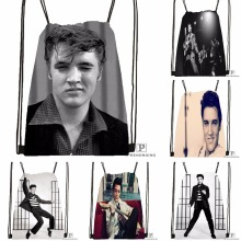 Custom Elvis Presley Drawstring Backpack Bag for Man Woman Cute Daypack Kids Satchel (Black Back) 31x40cm#180531-01-14