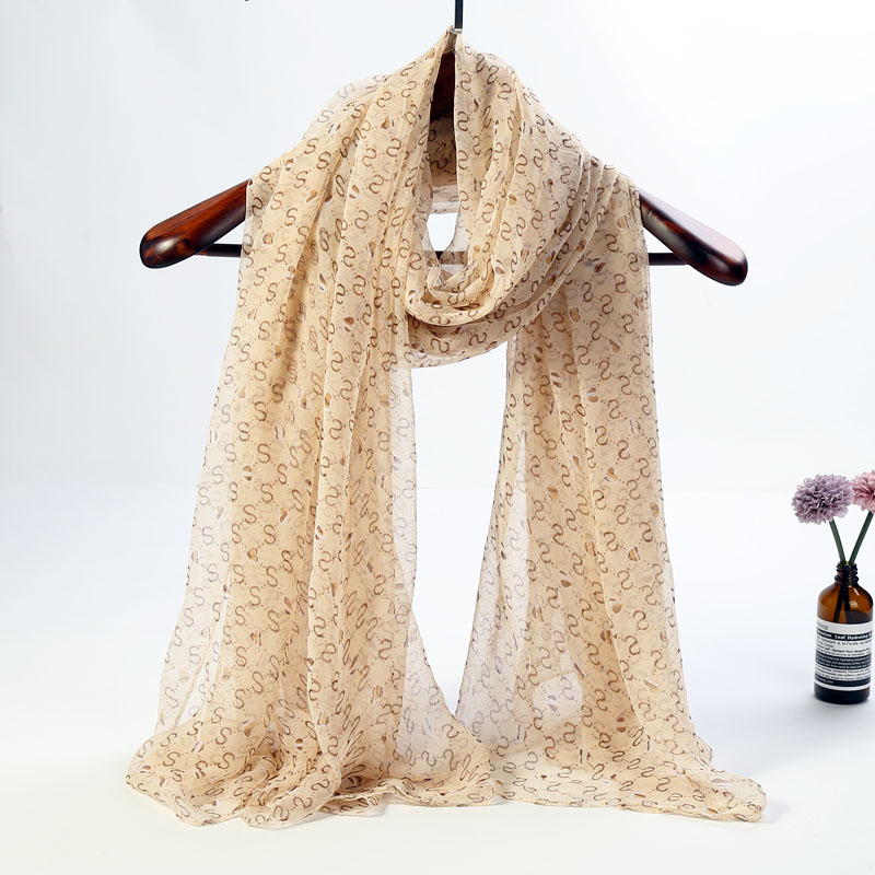 2019 L-azyseason brand Silk Scarf for women fashion lady print shawls pashmina foulard femme long Pluz size Silky Scarves Wraps