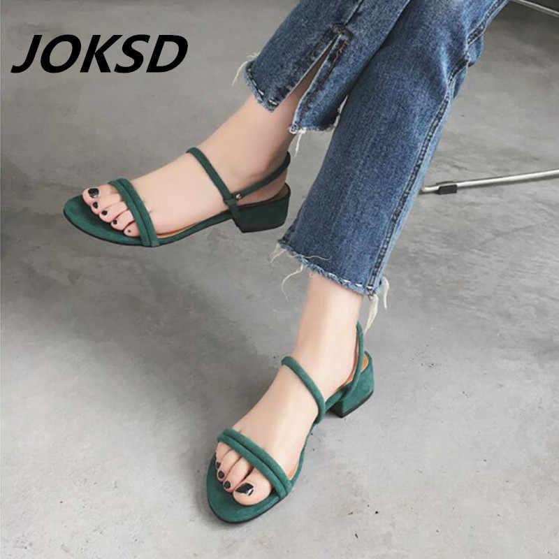 9df4b91c0d7 JOKSD Hot Selling Ladies Shoes 2018 Summer Gladiator Sandals Women High  Heels Sandals Party Wedding Shoes