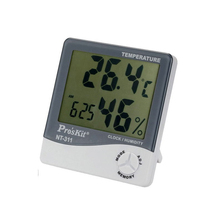 Big sale Pro'skit Digital LCD Thermometer Hygrometer Electronic Temperature Humidity Meter Weather Station Indoor Outdoor Alarm Clock