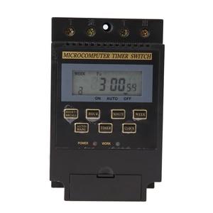 1PC LCD Digital interruptor de temporizador del microordenador AC 220V 25A ciclo microordenador tiempo Interruptor controlado impermeable versión en inglés