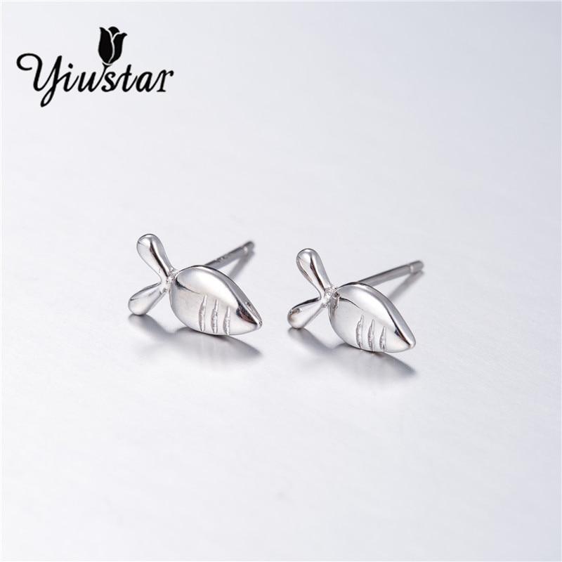 yiustar Fashion Animal Rabbits Radishes Charm Earrings Women Cute Radish Druzy Silver Pendientes Stud Earrigs Female bijouterie