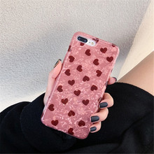 Lovely Heart Pattern Phone Case For iphone X XS Max XR Case For iphone 6 6s 7 8 plus Cover Fashion Conch Shell Soft Cases Fundas цена