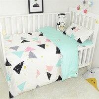3Pcs Baby Bedding Sets Including Duvet Cover Pillowcase Flat Sheet Soft High Quality Infant Crib Set For Newborns Baby Sleeping