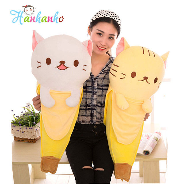60cm 4 Colors Giant Banana Cat Big Plush Toy Stuffed Animal Doll