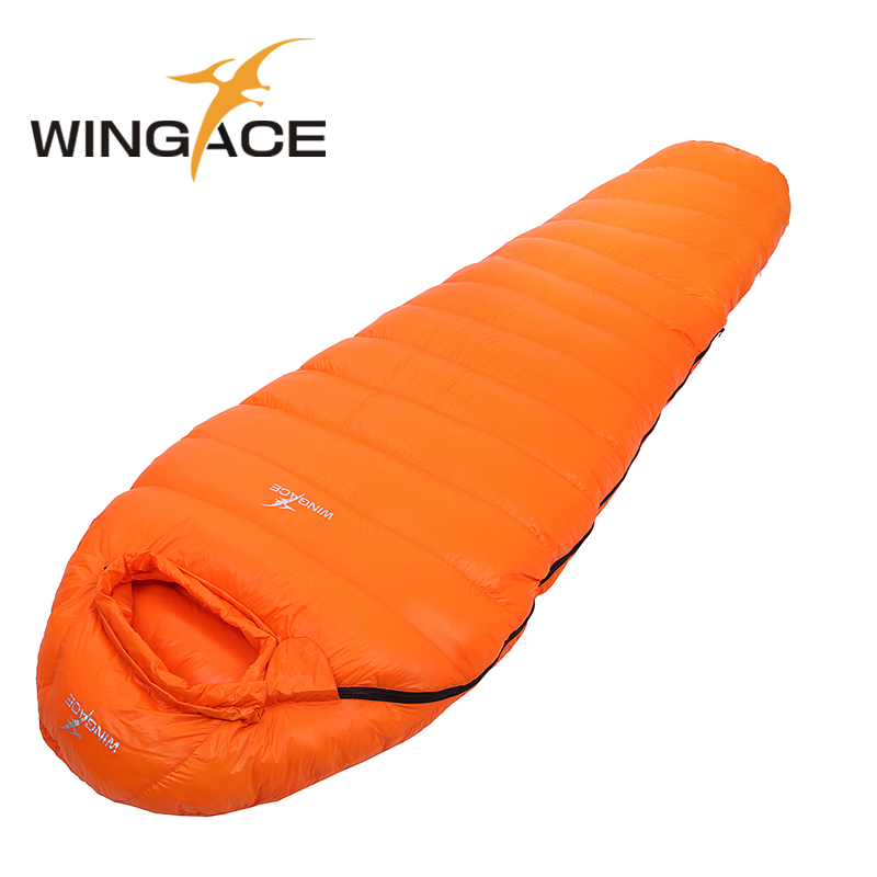 Filling 400G 600G 800G 1000G 1200G outdoor ultralight Goose down sleeping bag winter mummy sleeping bags camping uyku tulumu