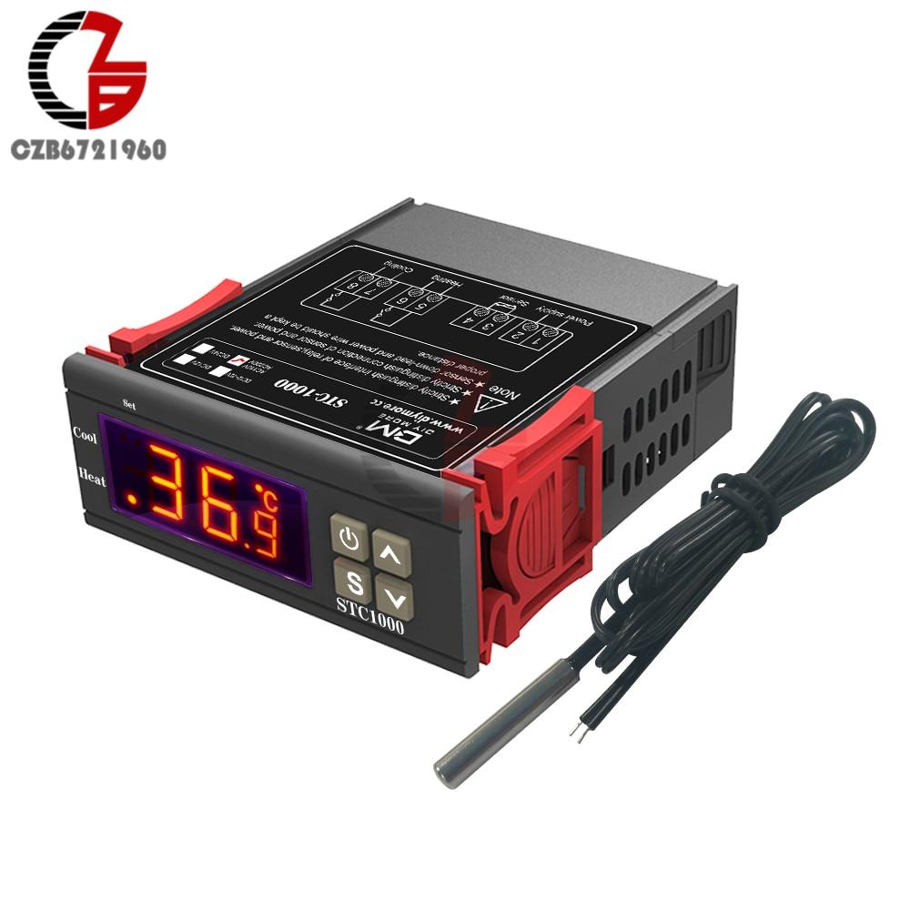 12V//24V//110V//220V STC-1000 Digital Temperature Controller Thermostats w//NTC